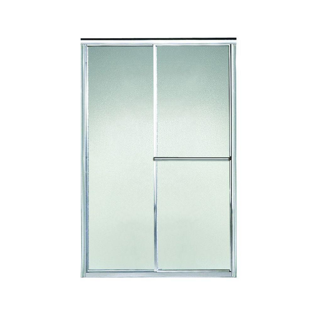 Deluxe 42-1/2 in. x 65-1/2 in. Framed Sliding Shower Door in Silver with Handle