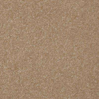 Carpet Sample - Kingship I - Color Baked Bread Texture 8 in. x 8 in.