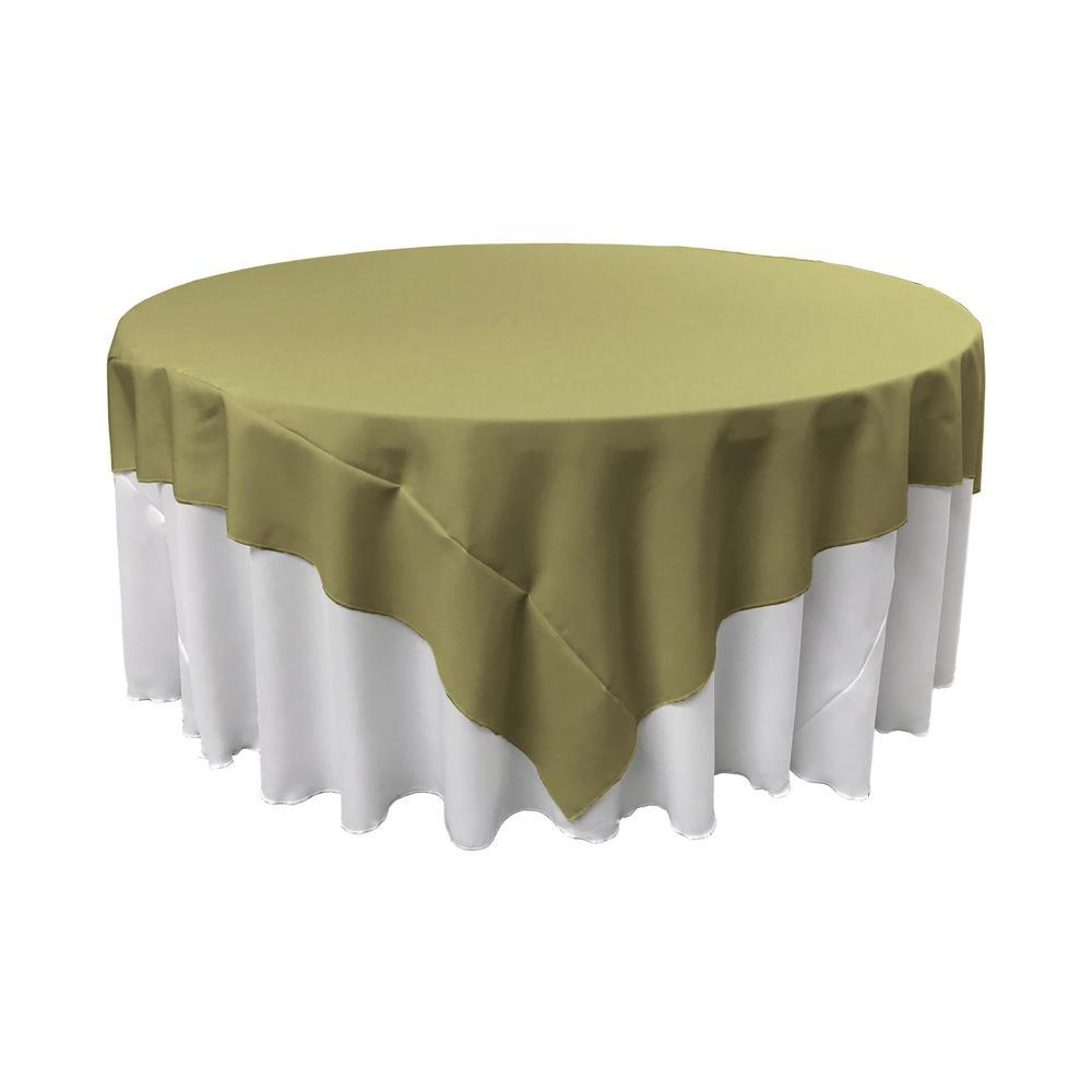 La Linen 90 In X 90 In Dark Sage Polyester Poplin Square Tablecloth Tcpop90x90 Sagedrkp39 The Home Depot