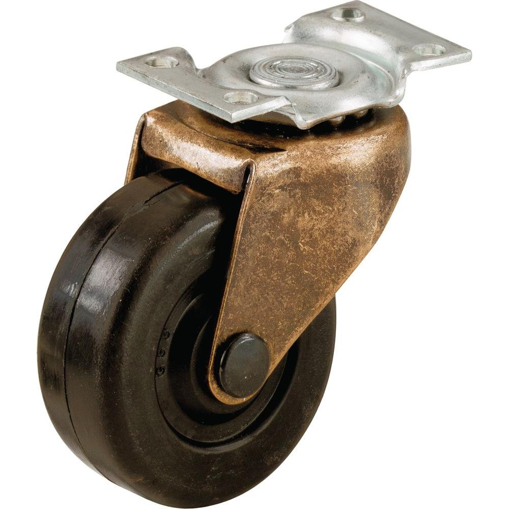 Shepherd 2 In Soft Rubber Swivel Plate Casters With 80 Lb Load