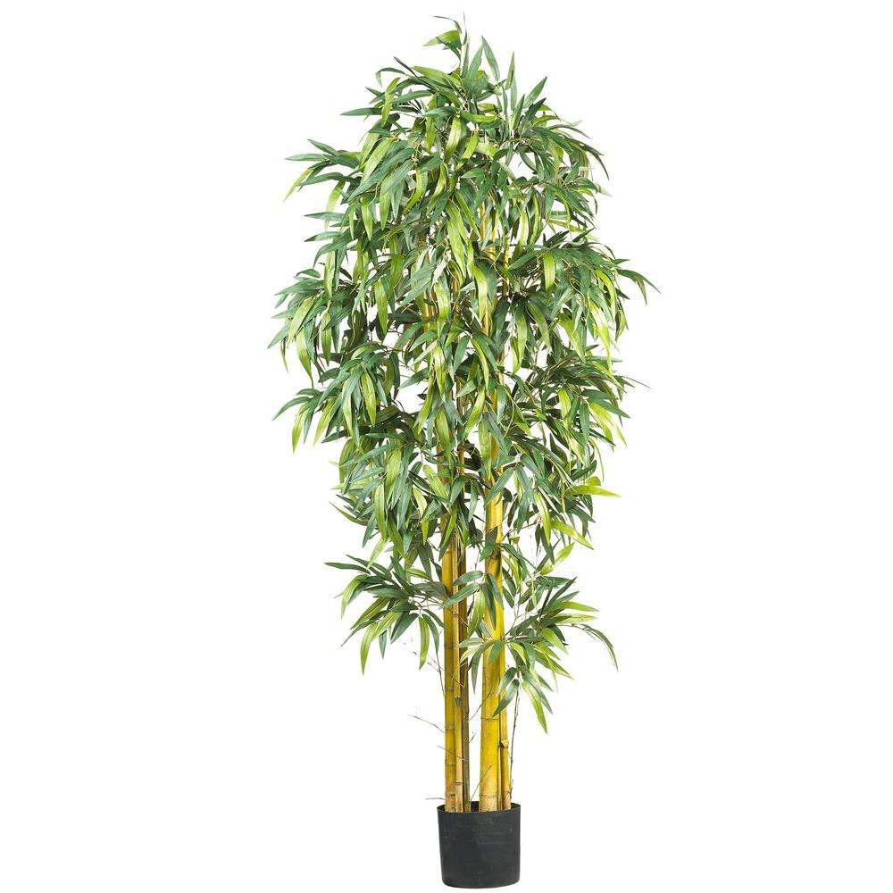 nearly natural 6 ft silk bamboo tree 5190 the home depot