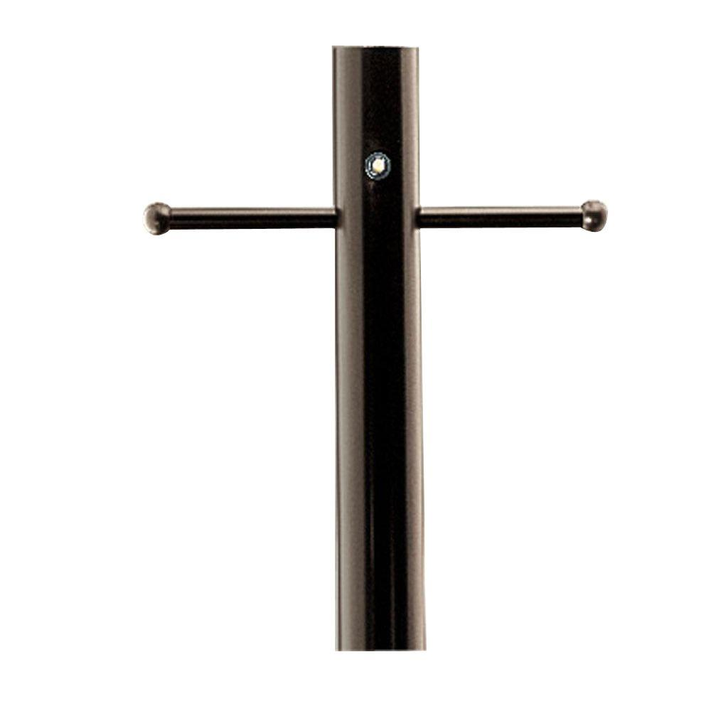 7 ft. Antique Bronze Exterior Lighting Post