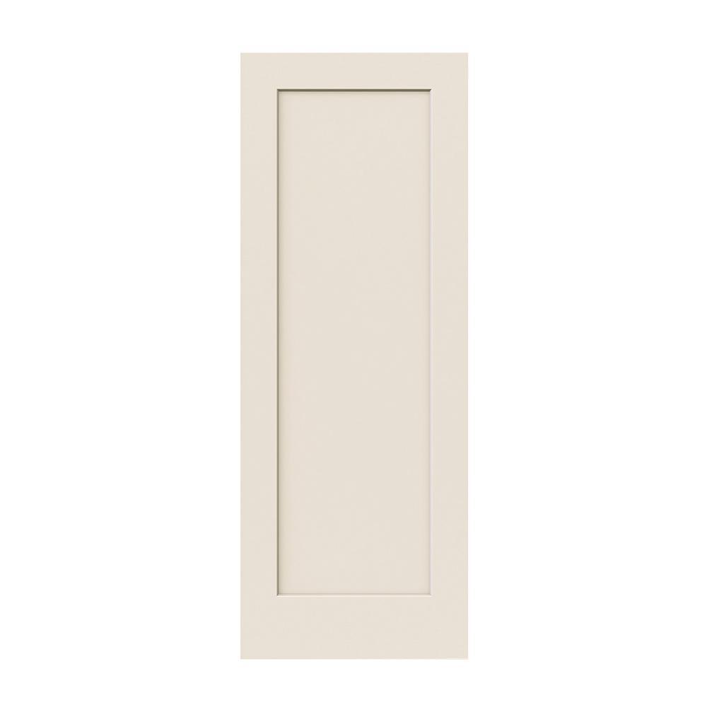 36 in. x 80 in. DesignGlide Madison Primed Smooth Molded Composite MDF Interior Barn Door Slab
