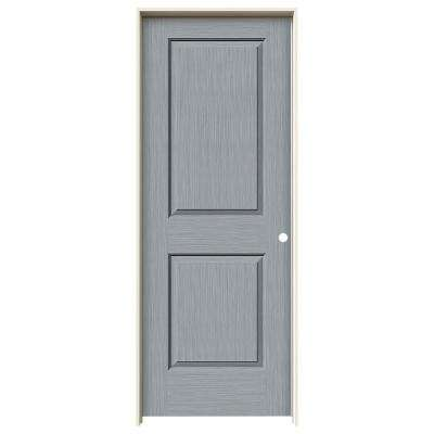 32 in. x 80 in. Cambridge Stone Stain Left-Hand Solid Core Molded Composite MDF Single Prehung Interior Door
