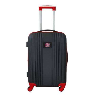 NHL Montreal Canadians 21 in. Red Hardcase 2-Tone Luggage Carry-On Spinner Suitcase