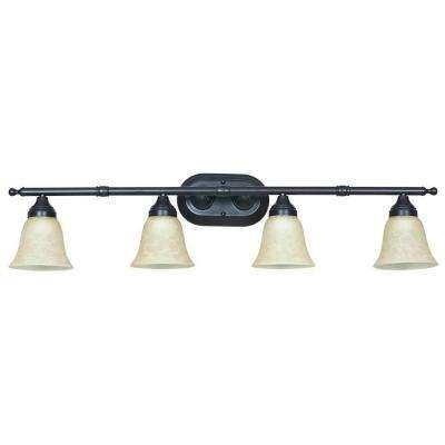 Hesler 4-Light Oil-Rubbed Bronze Bath Vanity Light