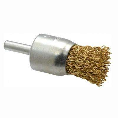 1 in. x 1/4 in. Shank Brass Wire End Brush