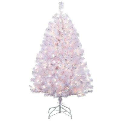 4.5 ft. Pre-Lit Shiny Incandescent White Northern Fir Artificial Christmas Tree with 250 UL-Listed Clear Lights