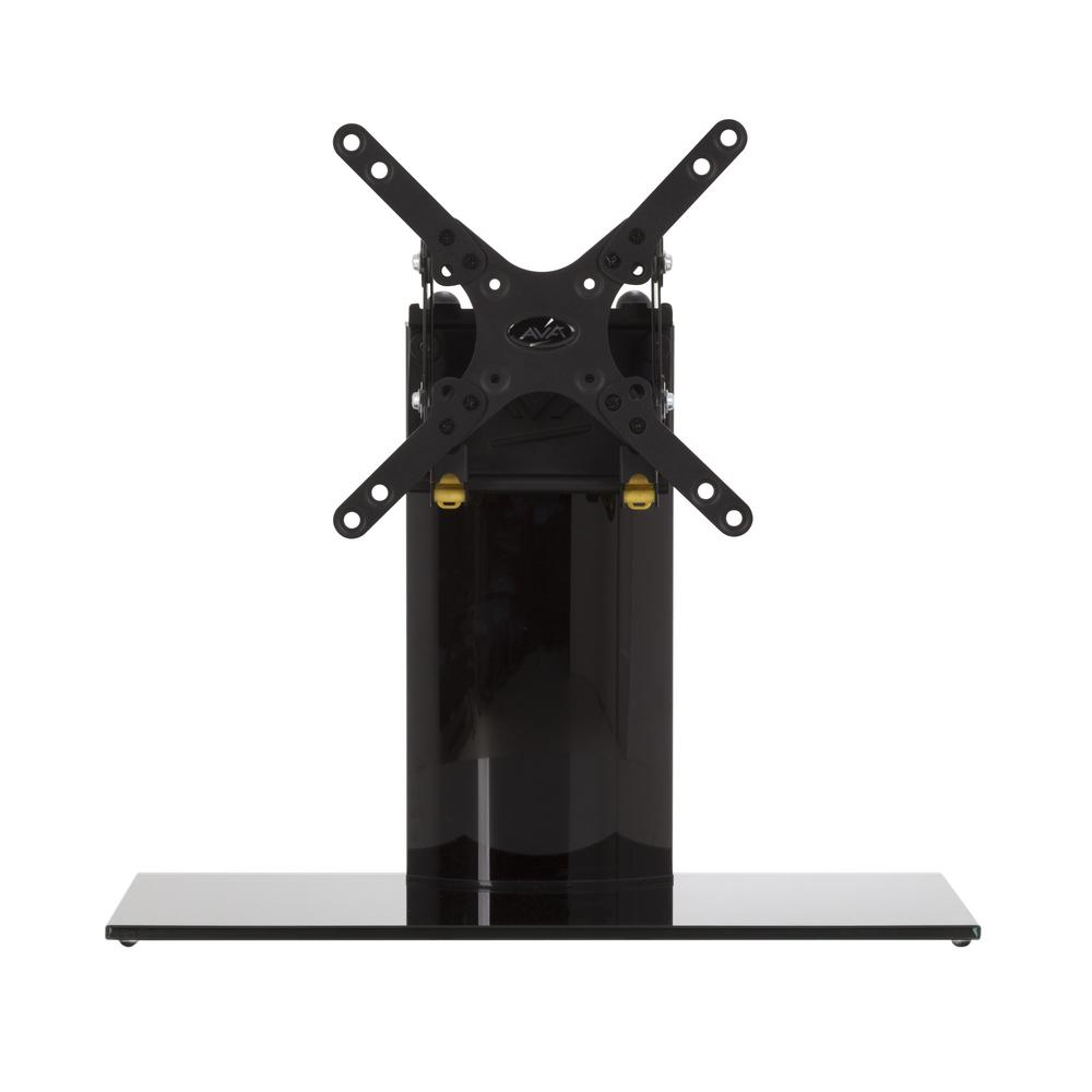 Universal Table Top TV Stand/Base Adjustable Tilt for Most TVs up to 32 in., Black/Black
