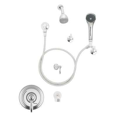 SentinelPro Single-Handle 1-Spray Round Shower Faucet in Polished Chrome (Valve Included)