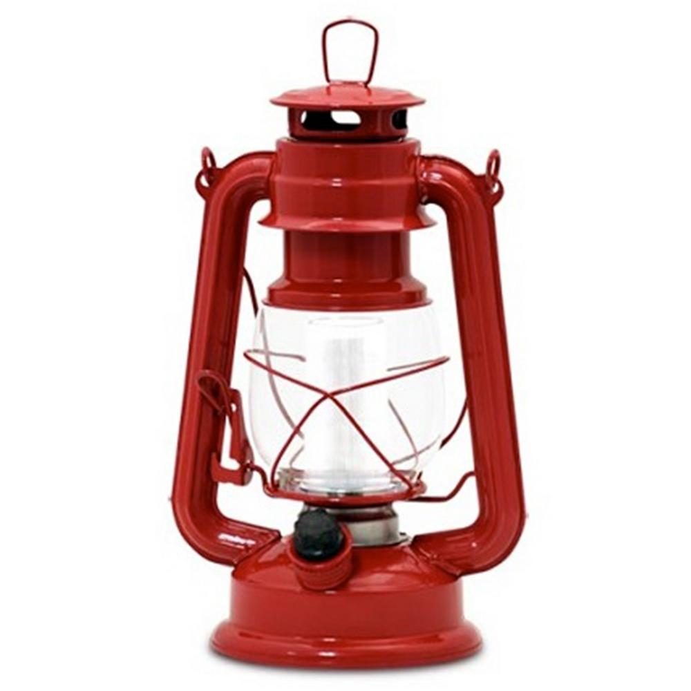 Vintage Red Battery Operated Led Lantern 2 Pack