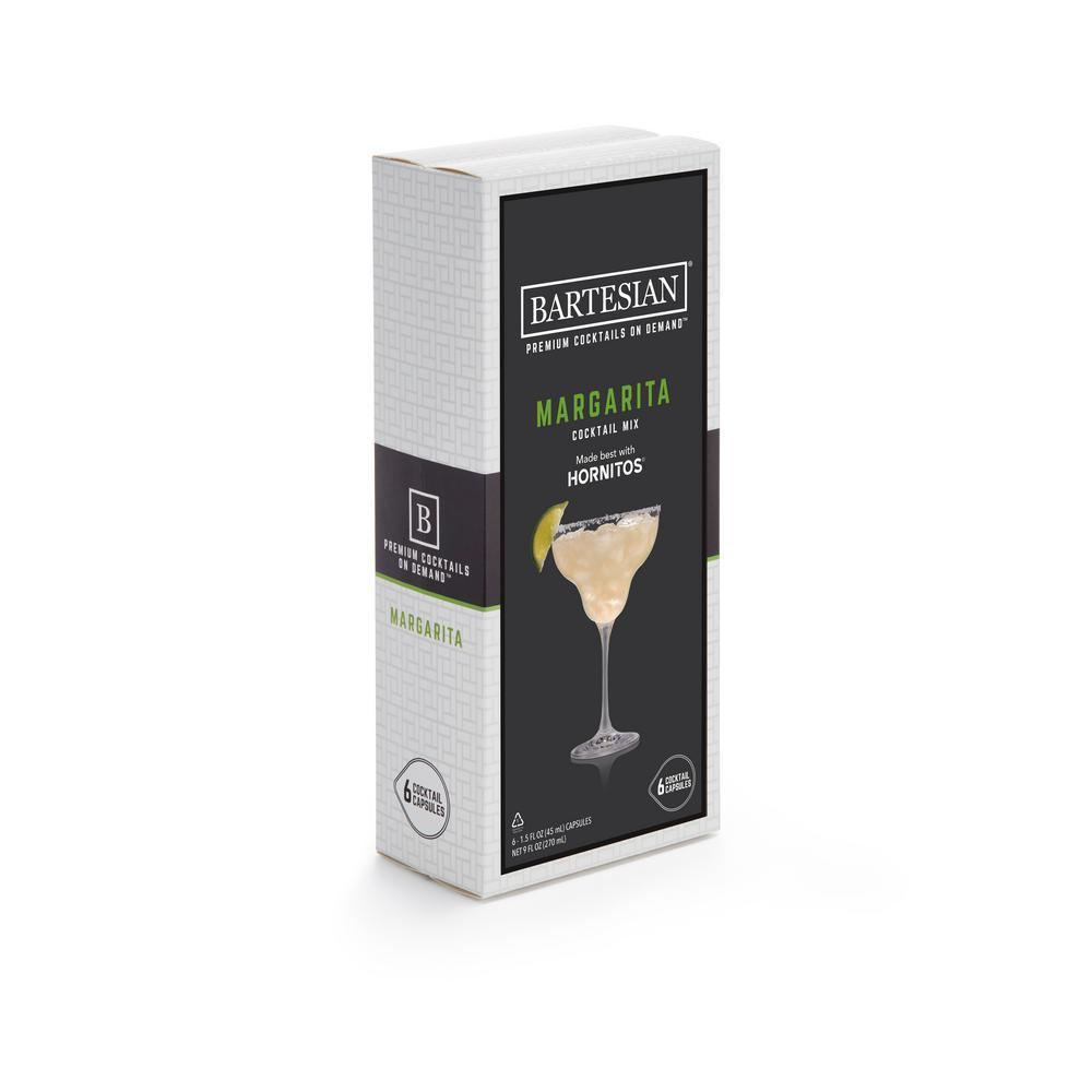 Margarita 6-Piece Clear Plastic Cocktail Mix Capsules