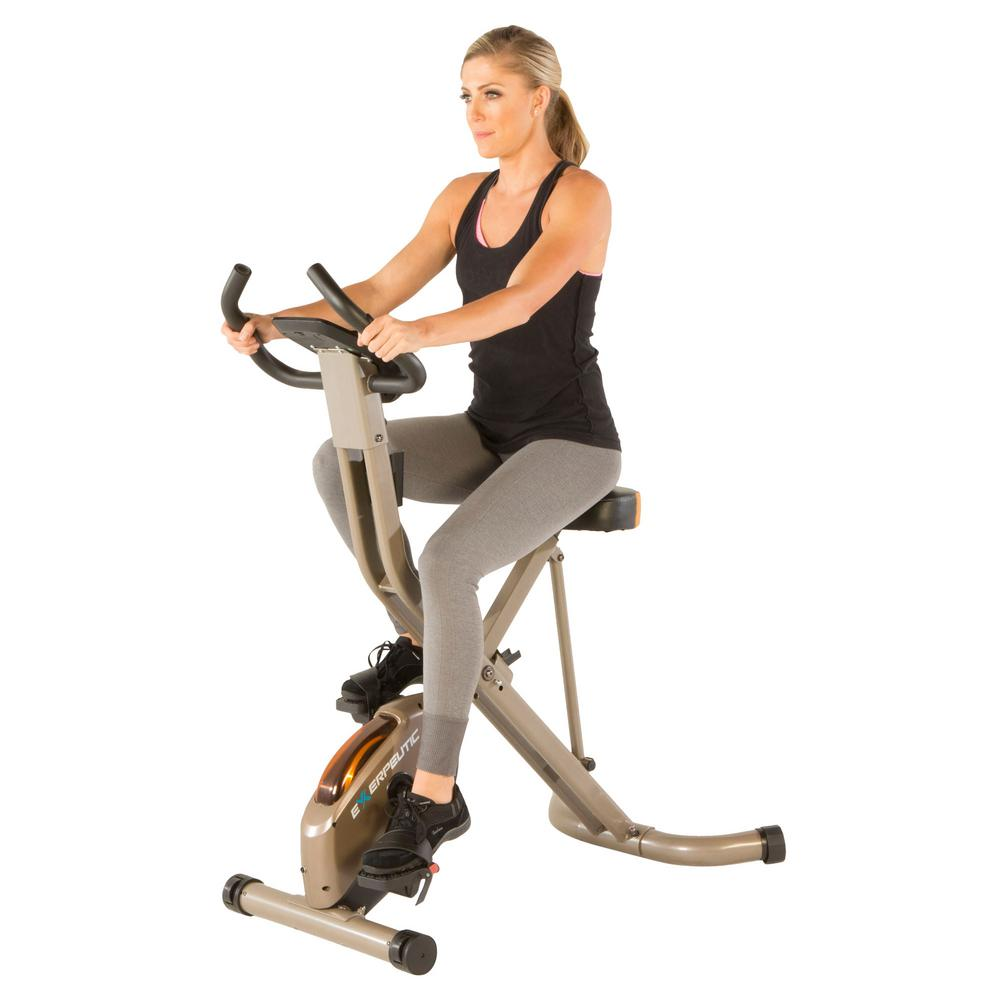 Exerpeutic Gold 575 XLS Exercise Bike with Bluetooth Smart Technology Folding