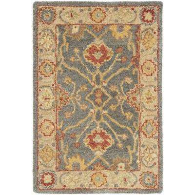 Antiquity Blue/Ivory 2 ft. x 3 ft. Area Rug
