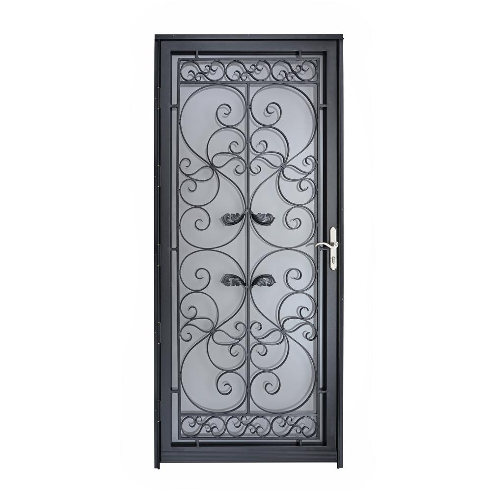 Grisham Naples 36 In X 80 In Black Full View Wrought