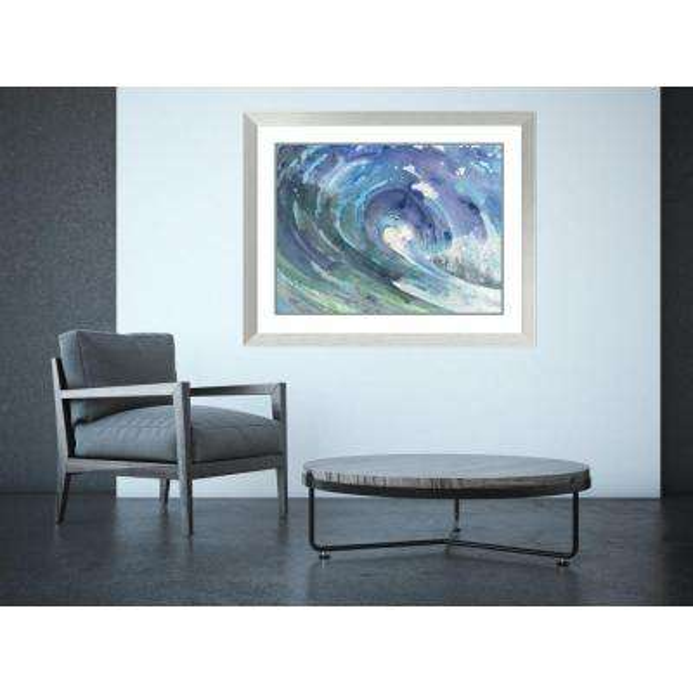 "41 in. W x 33 in. H ""Curl"" by Albena Hristova Framed Art Print"