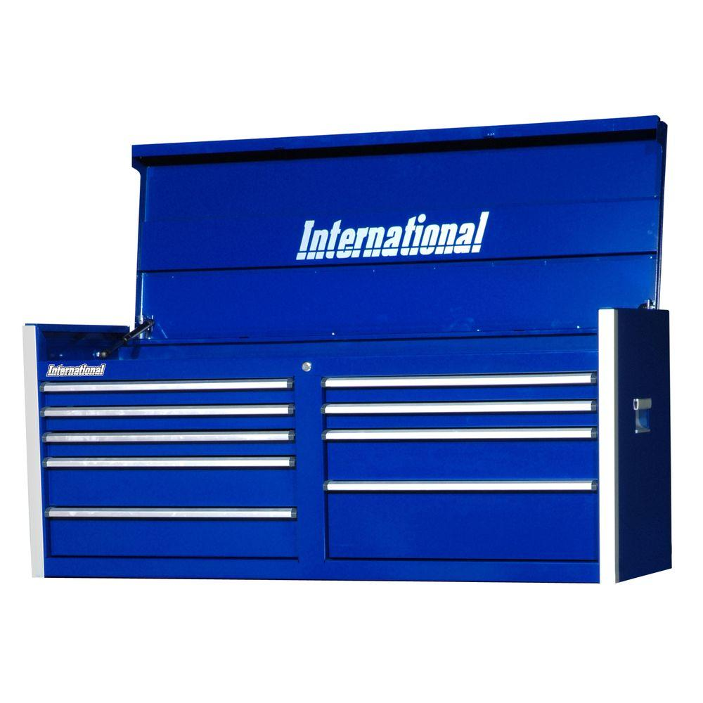 International Pro Series 54 in. 9-Drawer Top Chest, Blue