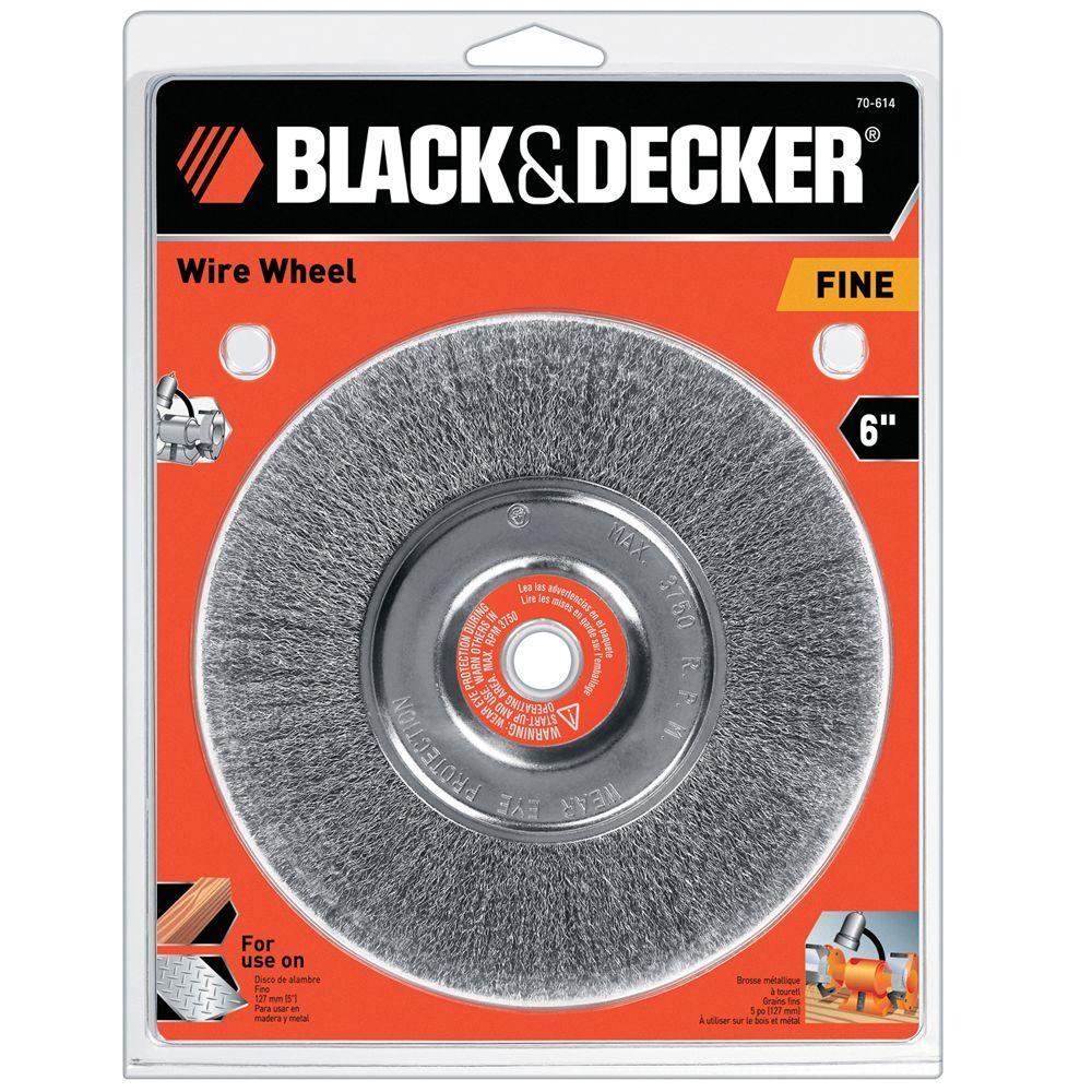 BLACK+DECKER 6 in. Wire Wheel