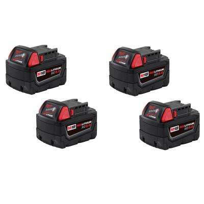 M18 18-Volt Lithium-Ion XC Extended Capacity Battery Pack 5.0Ah (4-Pack)