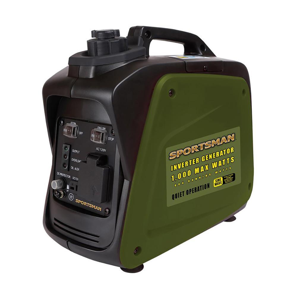 1,000/800-Watt Gasoline Powered Digital Inverter Generator $199