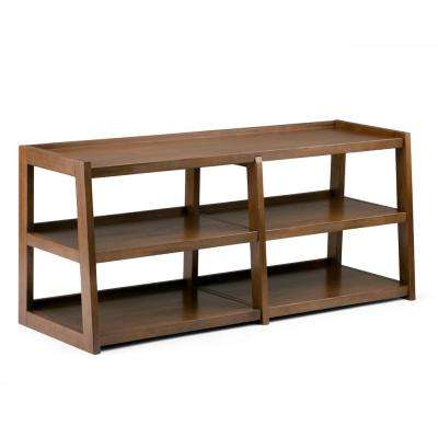 Sawhorse Medium Saddle Brown 60 in. Wide TV Media Stand