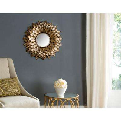 Provence Sunburst 27 in. x 27 in. Iron Framed Mirror