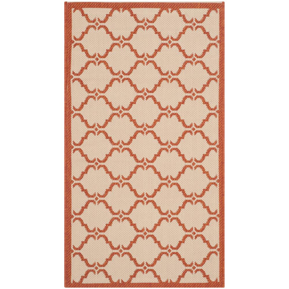 Courtyard Beige/Terracotta 2 ft. 7 in. x 5 ft. Indoor/Outdoor Area