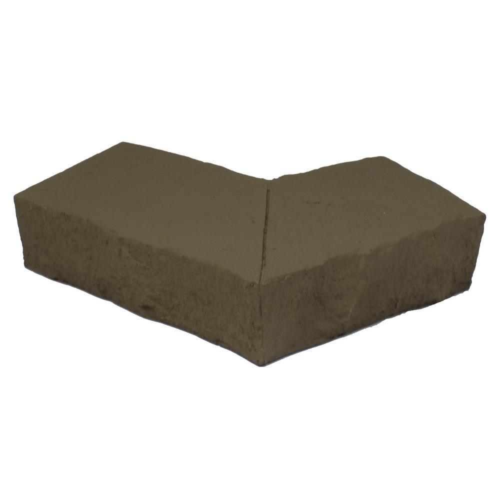 Sandstone Buff 6.25 in. x 4.25 in. Faux Stone Ledger Outside Corner (2-Pack)