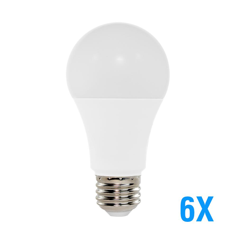 60W Equivalent Cool White (5000K) A19 LED Light Bulb (6-Pack)