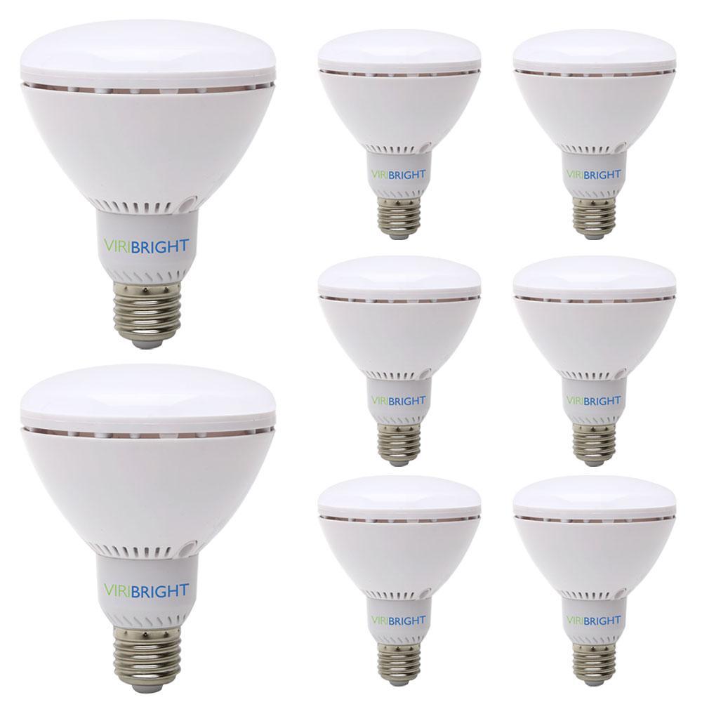 65-Watt Equivalent BR30 Dimmable 90+ CRI Flood LED Light Bulb Cool White (8-Pack)