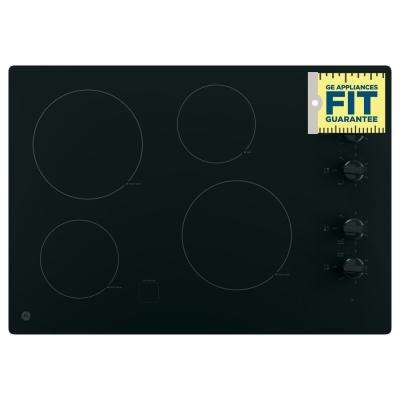 30 in. Radiant Electric Cooktop in Black with 4 Elements including 2 Power Boil Elements