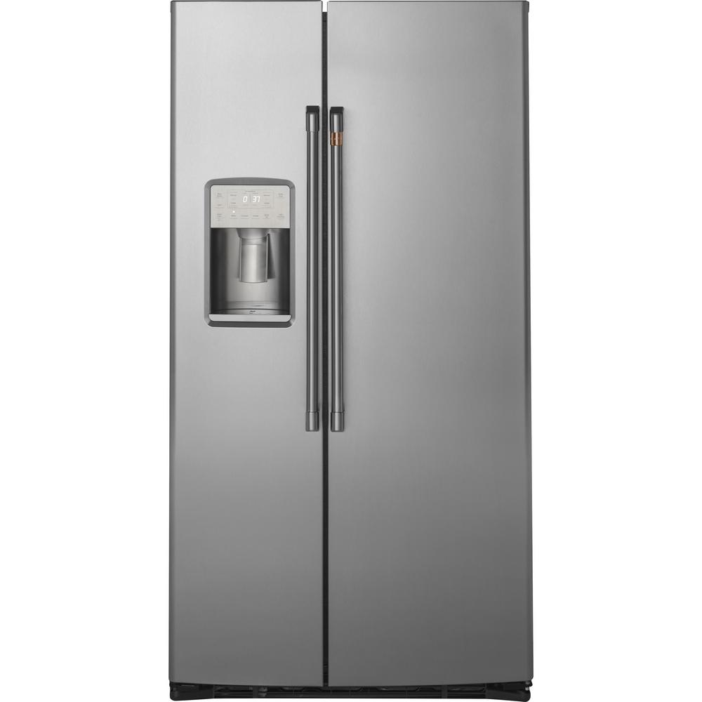 Cafe 21.9 cu. Ft. Side by Side Refrigerator in Stainless Steel, Counter Depth