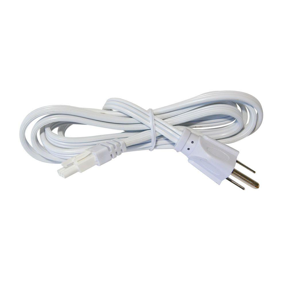 Irradiant 6 ft. White Power Cord for LED Under Cabinet Light
