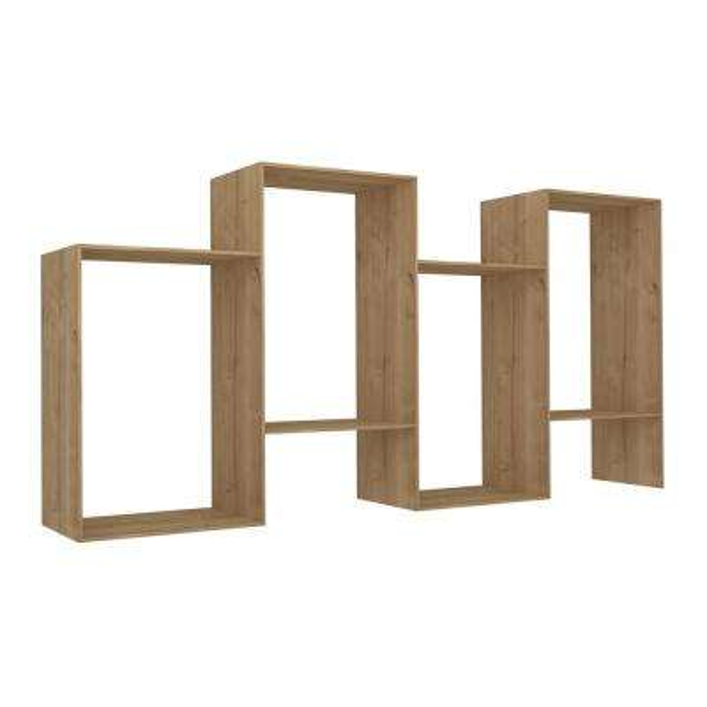 Blocks Oak Modern Bookcase