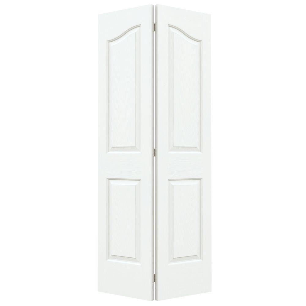 Jeld-Wen 36 in. x 80 in. Provincial White Painted Texture...