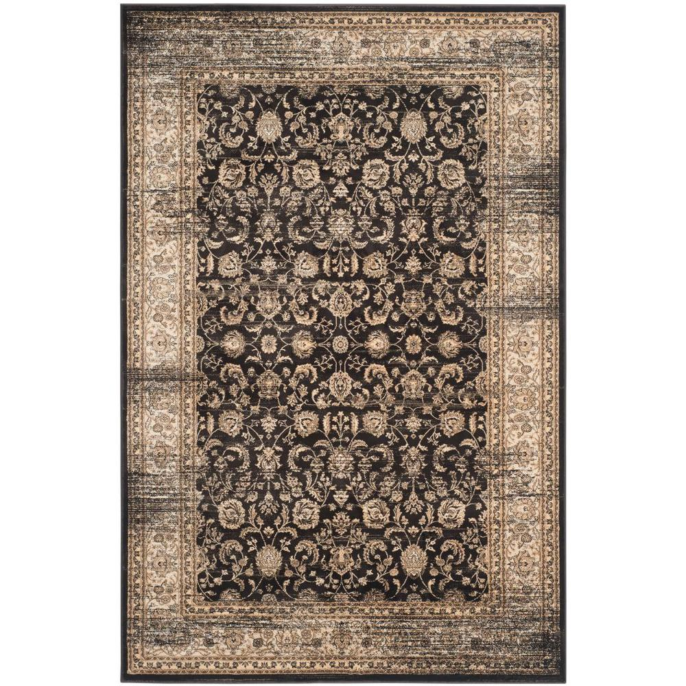 Safavieh vintage black ivory 5 ft x 8 ft area rug