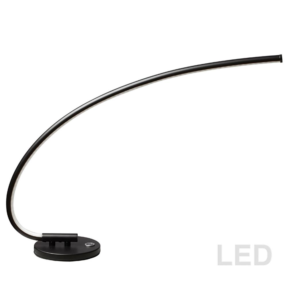 19 in. Black Integrated LED Table Lamp