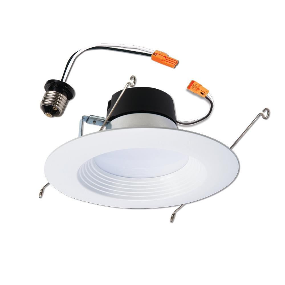 Halo Halo LT 5 in. and 6 in. White Integrated LED Recessed Ceiling Light Retrofit Trim at 2700K Warm White