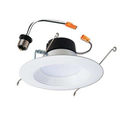 LT 5 in. and 6 in. White Integrated LED Recessed Ceiling Light Retrofit Trim at 2700K Warm White