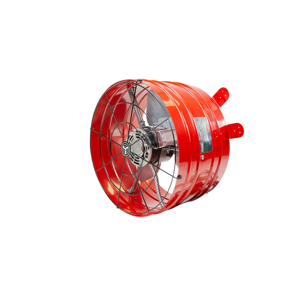 Quietcool 2860 Cfm Red Electric Powered Gable Mount Electric Attic Fan Afg Pro 3 0 The Home Depot