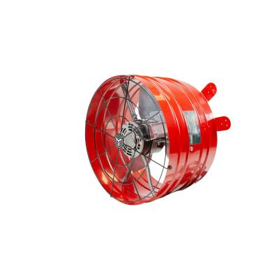 2860 CFM Red Electric Powered Gable Mount Electric Attic Fan