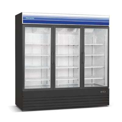 78 in. W 53 cu. ft. 3-Door Commercial Refrigerator in Black