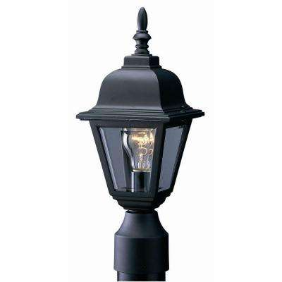 Maple Street Black Outdoor Die-Cast Post Mount Light Fixture