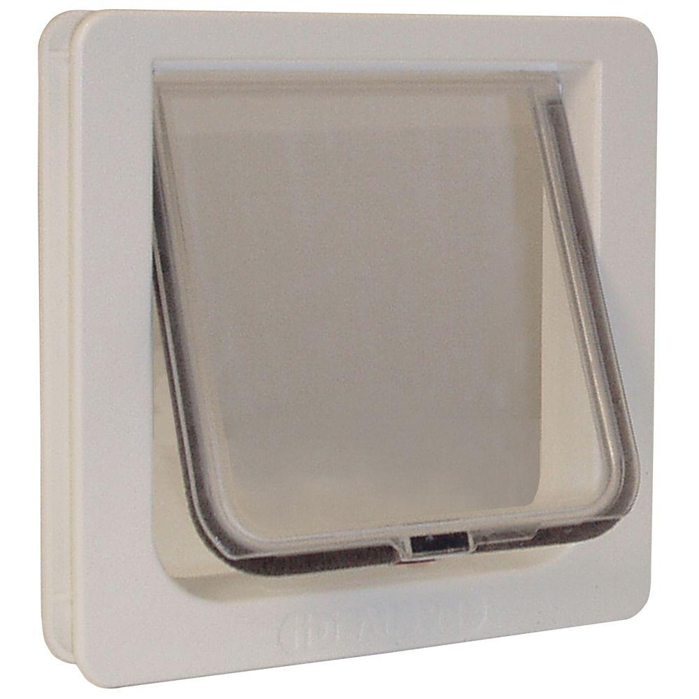 Ideal Pet 625 In X 625 In Small Cat Flap Cat Door With Plastic