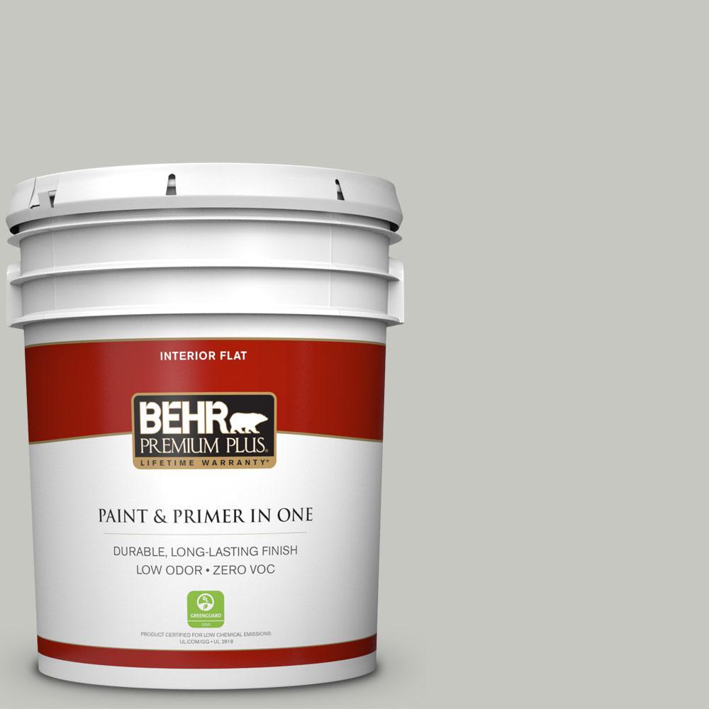 BEHR Premium Plus 5-gal. #N360-2 Silver Marlin Flat Interior Paint