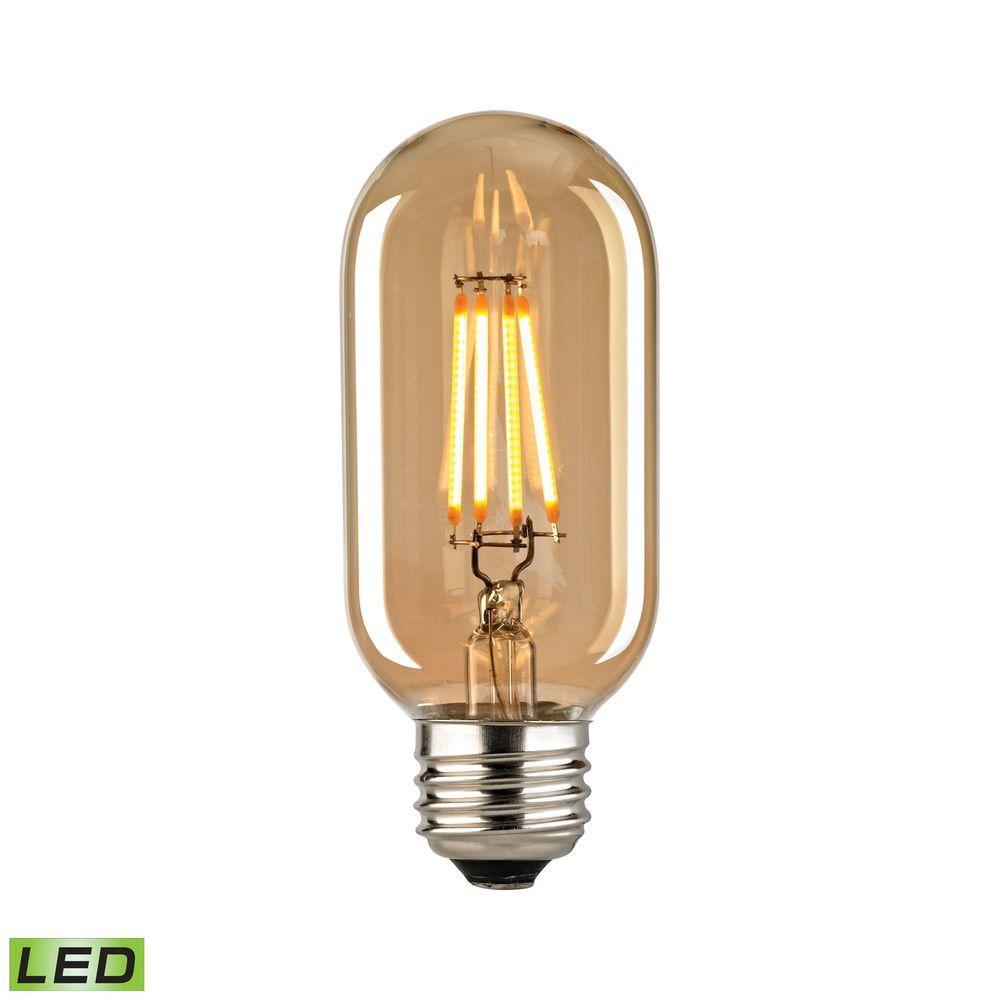 filament medium led bulb with light