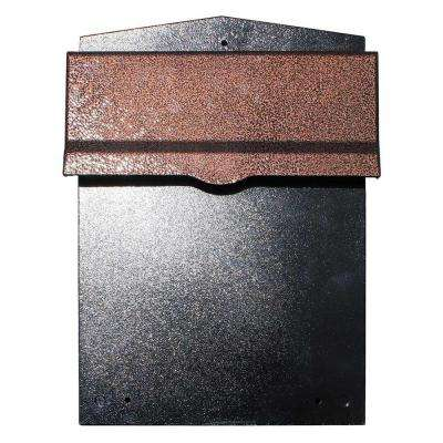 Liberty Black/Antique Copper Wall Mount Locking Mailbox