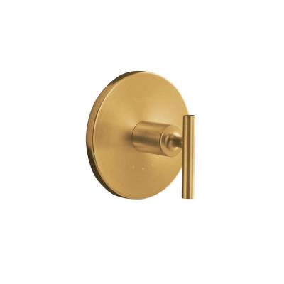 Purist 1-Handle Thermostatic Valve Trim Kit with Lever Handle in Vibrant Modern Brushed Gold (Valve Not Included)