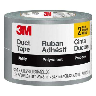 1.88 in x 60 yd. Utility Duct Tape (2 Rolls/Pack)