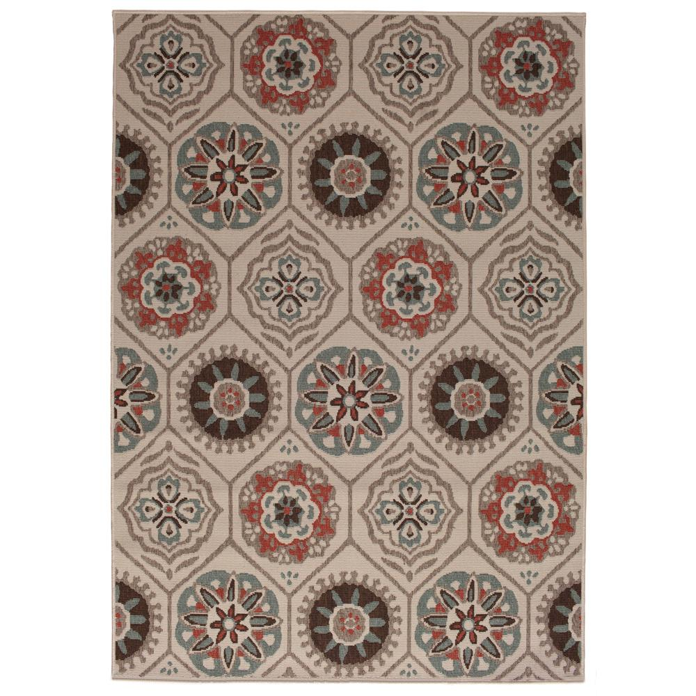 hamptonbay Hampton Bay Medallion Multi 8 ft. x 11 ft. Indoor/Outdoor Area Rug